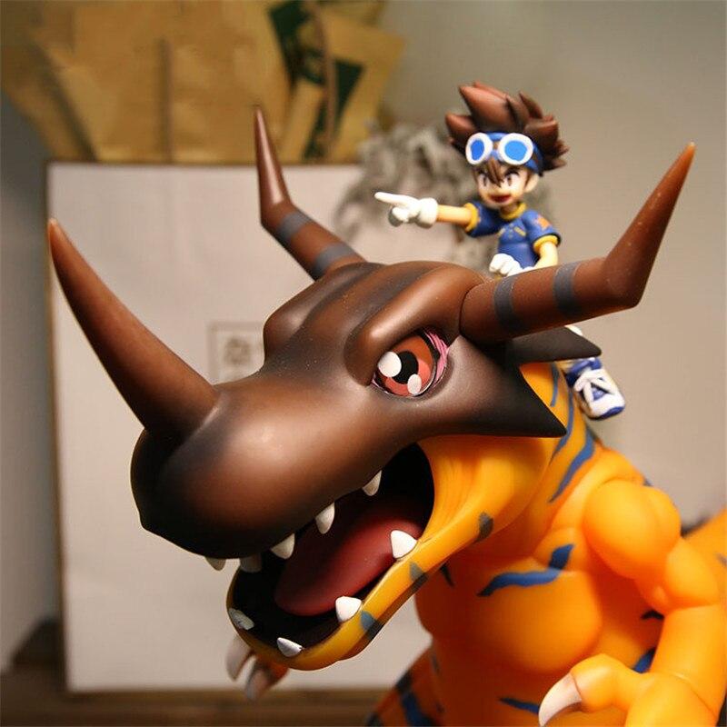 BIG SIZE 28CM Digital Monster Greymon YAGAMI TAICHI Digimon Action Figure Toys Model Anime Figure Collection