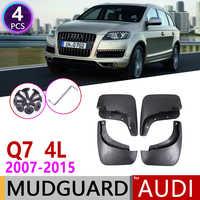 Para Audi Q7 4L 2007 ~ 2015 guardabarros protectores de salpicaduras accesorios 2008 2009 2010 2011 2012, 2013, 2014,