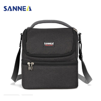 SANNEN Adult Lunch Box Insulated Lunch Bag For Men Women Double Deck Cooler Tote Bag For