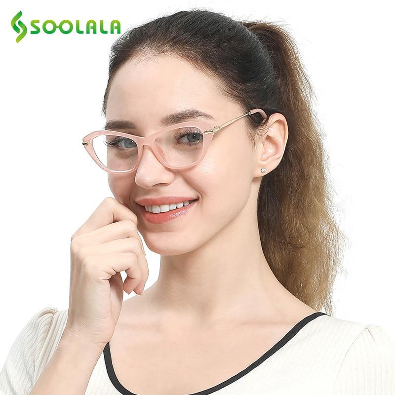 SOOLALA Cateye óculos de Leitura Óculos de Mulheres Homens Óculos de  Armação Óculos de Leitura + 0.5 0.75 1.0 1.25 1.5 1.75 2.0 2.25 2.5 2.75  3.0 3.5 4.0 c17328ca4f