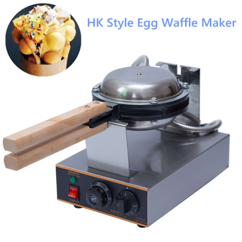 Electric Bubble Waffle Machine / qq Egg Waffle Machine / Hong Kong Electric Eggettes Puff Egg Waffle Maker Egg Cake Baker Oven цена и фото