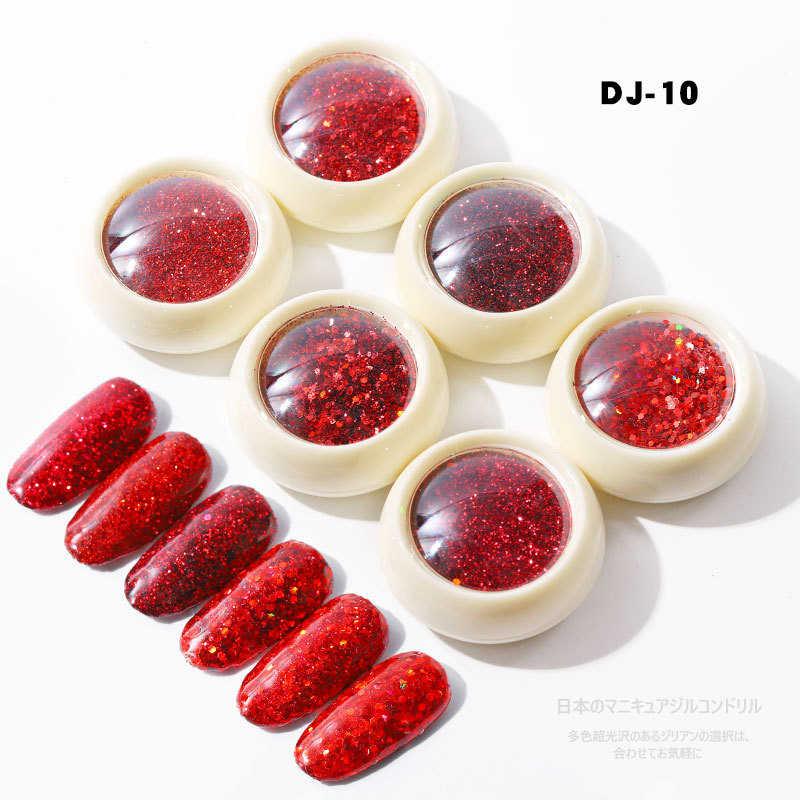 6 pçs/set Prego Sereia Sparkly Glitter Flakes 3D Hexágono Lantejoulas Coloridas Lantejoulas Polonês Manicure Nails Art Decorações TSLM1
