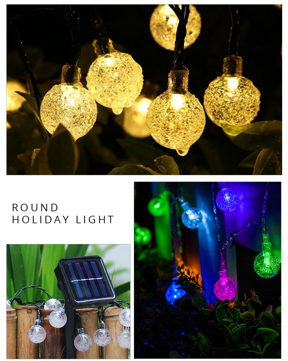 Peach Flower LED Solar Lamp Fairy String Light Outdoor Decoration Holiday Party Lights For Garden Christmas Tree Lawn Landscape (15)