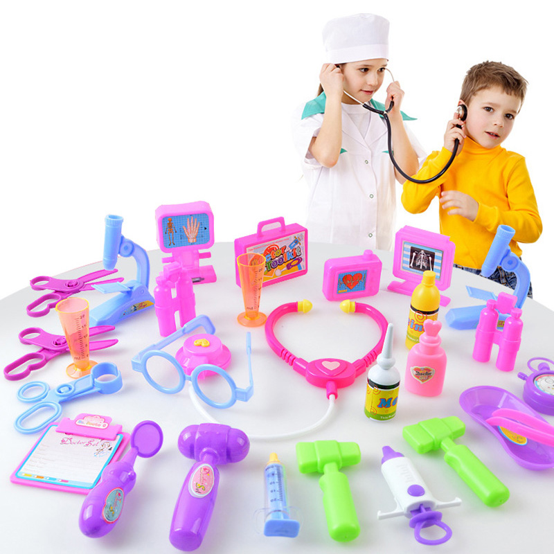 Kid Pretend Play Doctors Game 11/12Pcs Doctor Nurse Check Treatment Kit Children Educational Toys For Brithday Gift TY0400