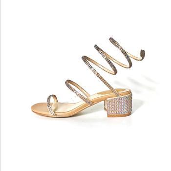 Serpiente Diamantes En Sandalias De Imitación Cuerda Forma O8nN0PXwk