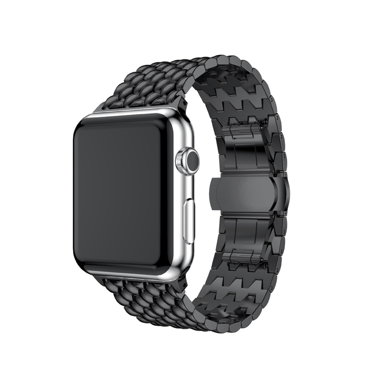 Bracelet pour Apple Watch Series 1 2 3 4 5 Bracelet de montre de luxe Bracelet en acier inoxydable en métal de haute qualité pour Apple iWatch 4 5