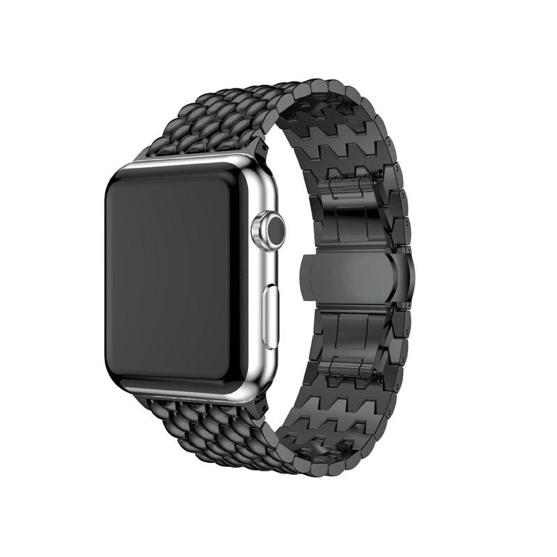 Serie di Orologi Fascia di polso Per Apple 1 2 3 Lusso Cinturino di Alta Qualità In Metallo Bracciale In Acciaio Inossidabile Per Apple iWatch