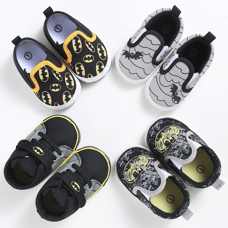 Fashion Baby Shoes Boys Toddler Cartoon Batman Canvas Kids Footwear Casual Sneakers Crib Babe First Walkers 0-2T DS9