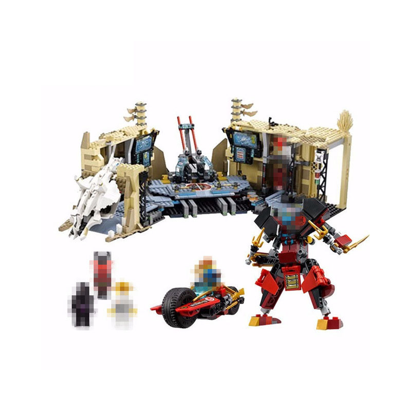 Bela 10530 1307Pcs Ninja series Chaos Warrior Cave Model Building Blocks Set Bricks Toys For Children Gift 70596