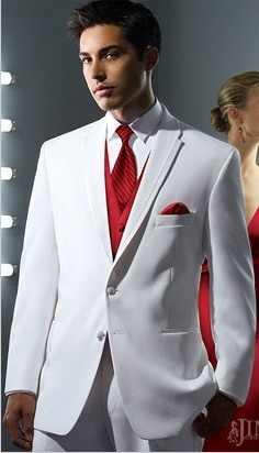 Жених Best Для мужчин Нарядные Костюмы для свадьбы для Для мужчин Белый  Нотч две кнопки Custume 6d608c6a917
