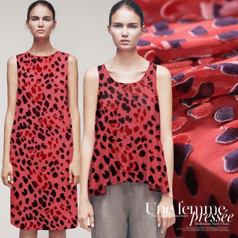 Silk Burnt-out Fabric Silk Dress Cheongsam Skirt Fabric Burnt-out Silk Velvet Clearance High-end Silk Velvet Cloth Wholesale