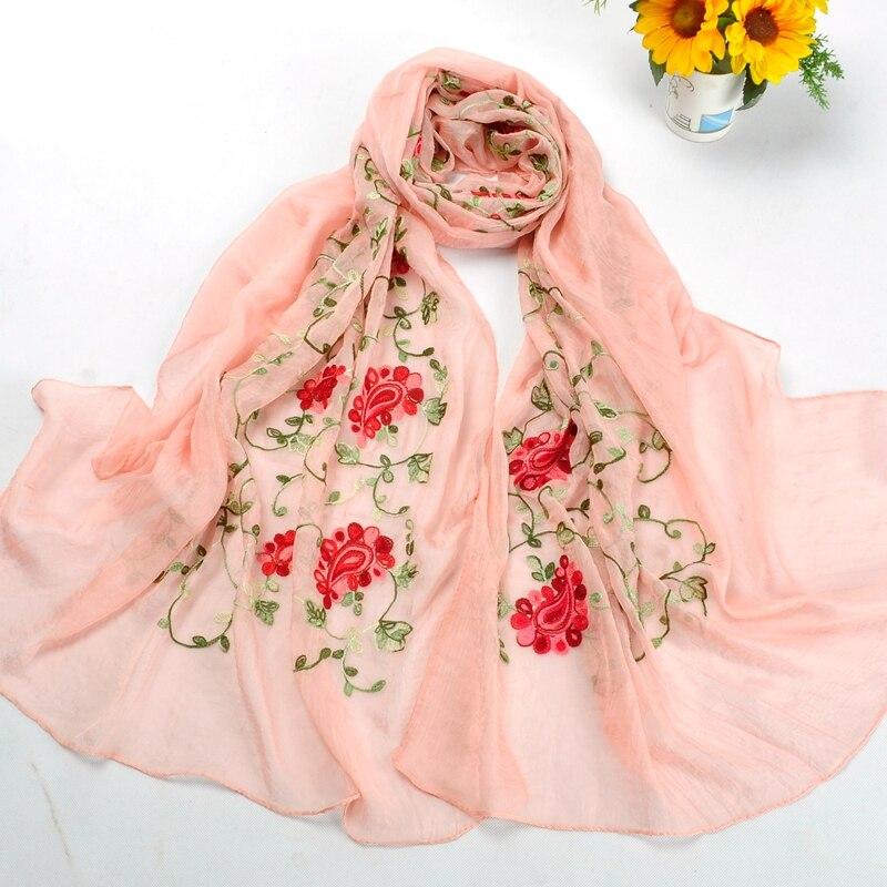 Mu1123 Haute Qualité imité Soie broderie Longue Écharpe 10 pcs par lot Date  style De Mode Châle Musulman Femmes Hijabs cf968c1bda6