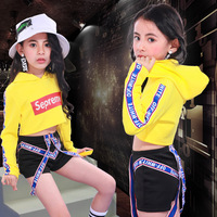 Songyuexia New Jazz Dress for Boys and Girls Children's street Hip hop Dress Hip hop Individual Suit