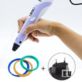 DIY LED 3D Printing Pen 1.75mm ABS/PLA EU Plug 3D Pen+9M Filament Dauber Creative Item Gift For Kids Drawing Painting 3D pen