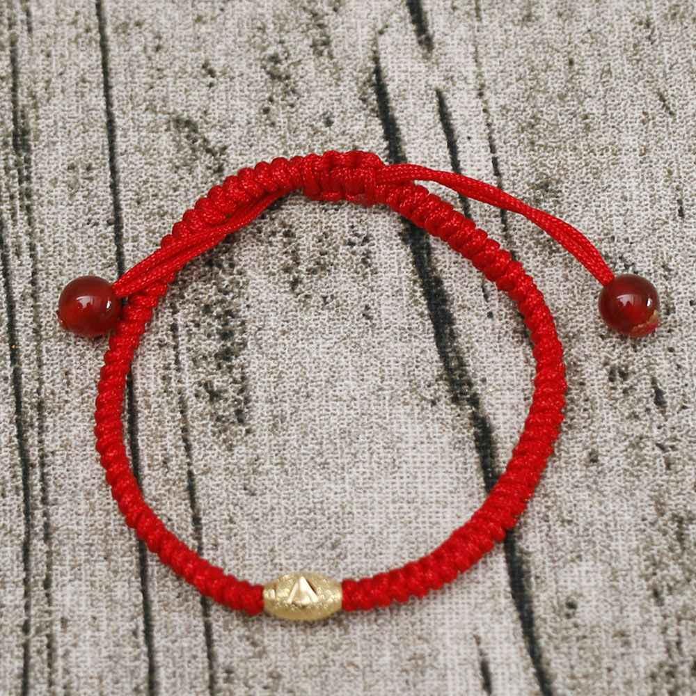 1 قطعة سوار Charm اليدوية مضفر الأحمر محظوظ سلسلة حبل الذهب أساور زينة للتعديل محظوظ مجوهرات للرجال النساء