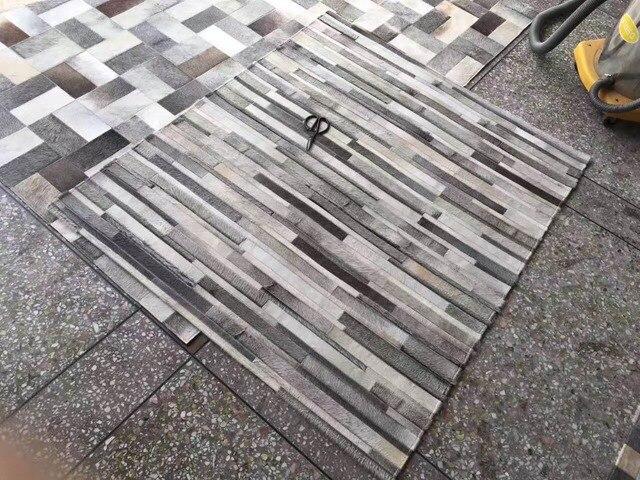 Fußboden Teppich Terbaik ~ Natürliche grau kuhfell echte kuh pelz bereich teppich für