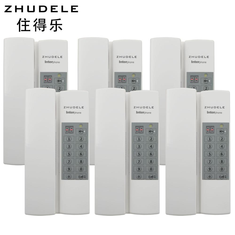 Vertraulichkeit 6-weg Audio Intercom System Öffentlichen Intercom Zhudele Multi-funktionen Safe & Komfortable Lager Sprech