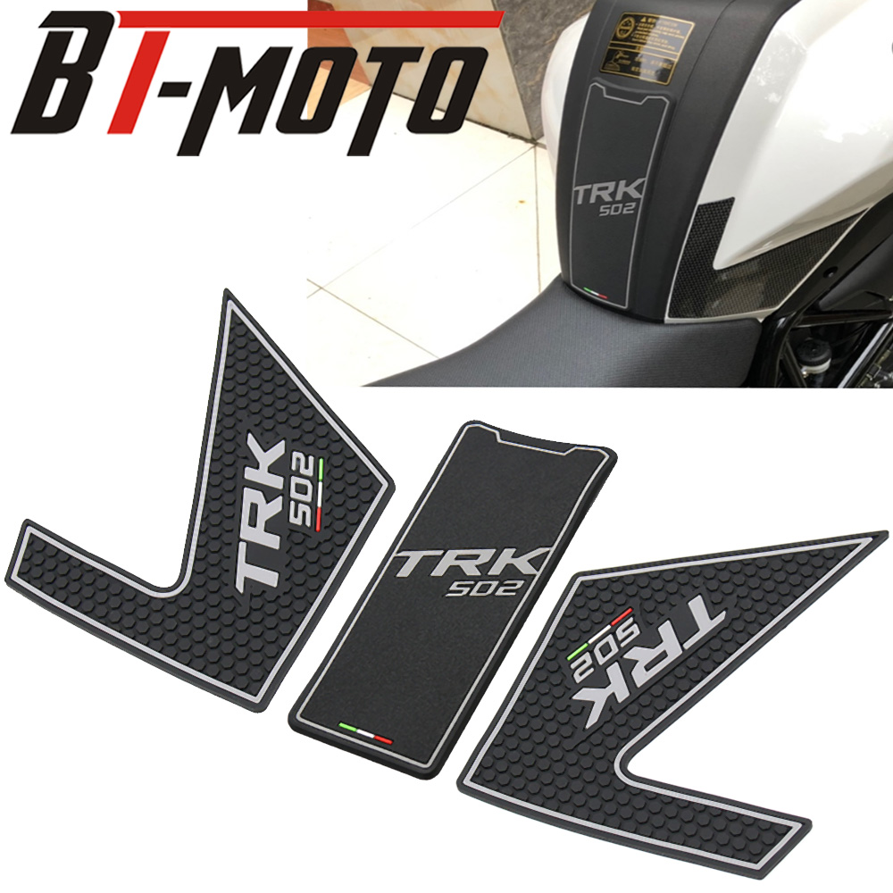 1 Set Motorcycle Gas Oil Fuel Tank Pad Protector Decal Sticker For Benelli TRK502 TRK 502 502X