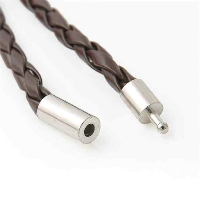 Nowa moda męska skórzane bransoletki Wristband bransoletka urok ręcznie sznur okrągły biżuteria akcesoria torebka z paskiem na nadgarstek ozdoba bransoletki