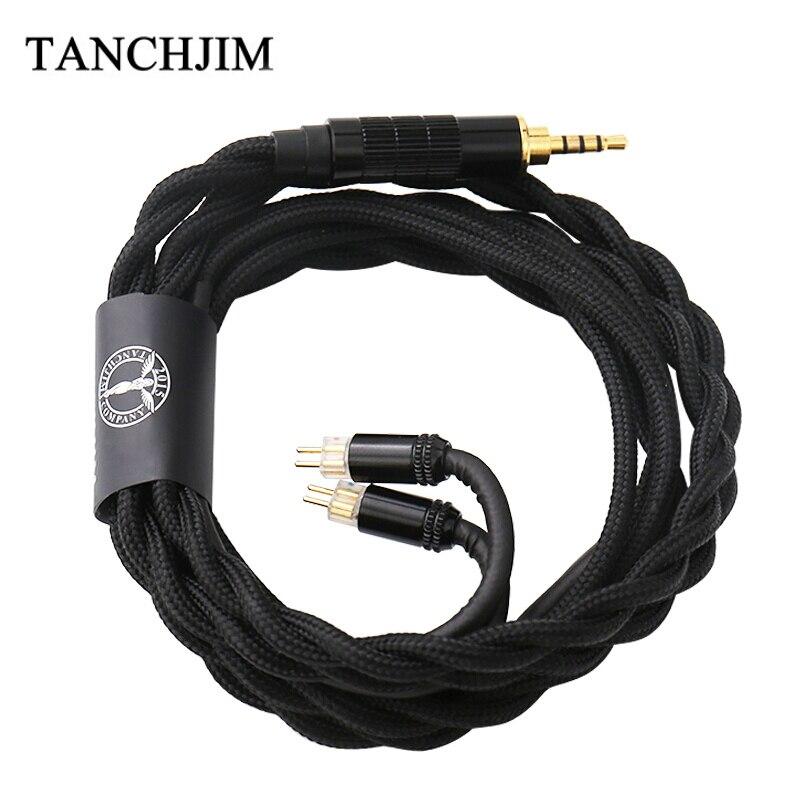 TANCHJIM Oxygen Earphone Upgrade Line 0 78mm Pin 2 5mm 3 5mm 4 4mm 5N Single