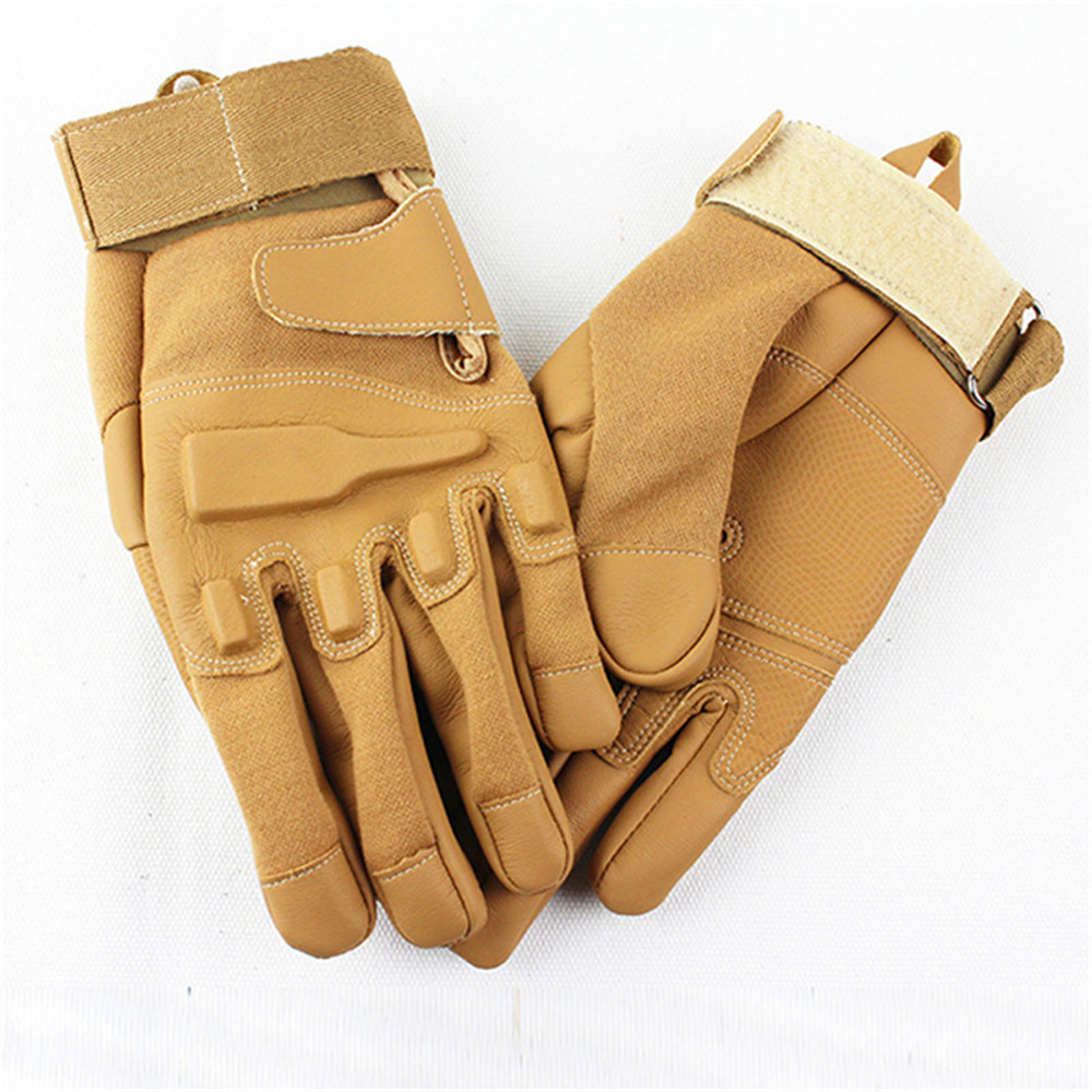 Fashion Military Tactical Gloves Brand Fashion Brown gym gloves Bicycle Motocycle Full-Finger leather gloves