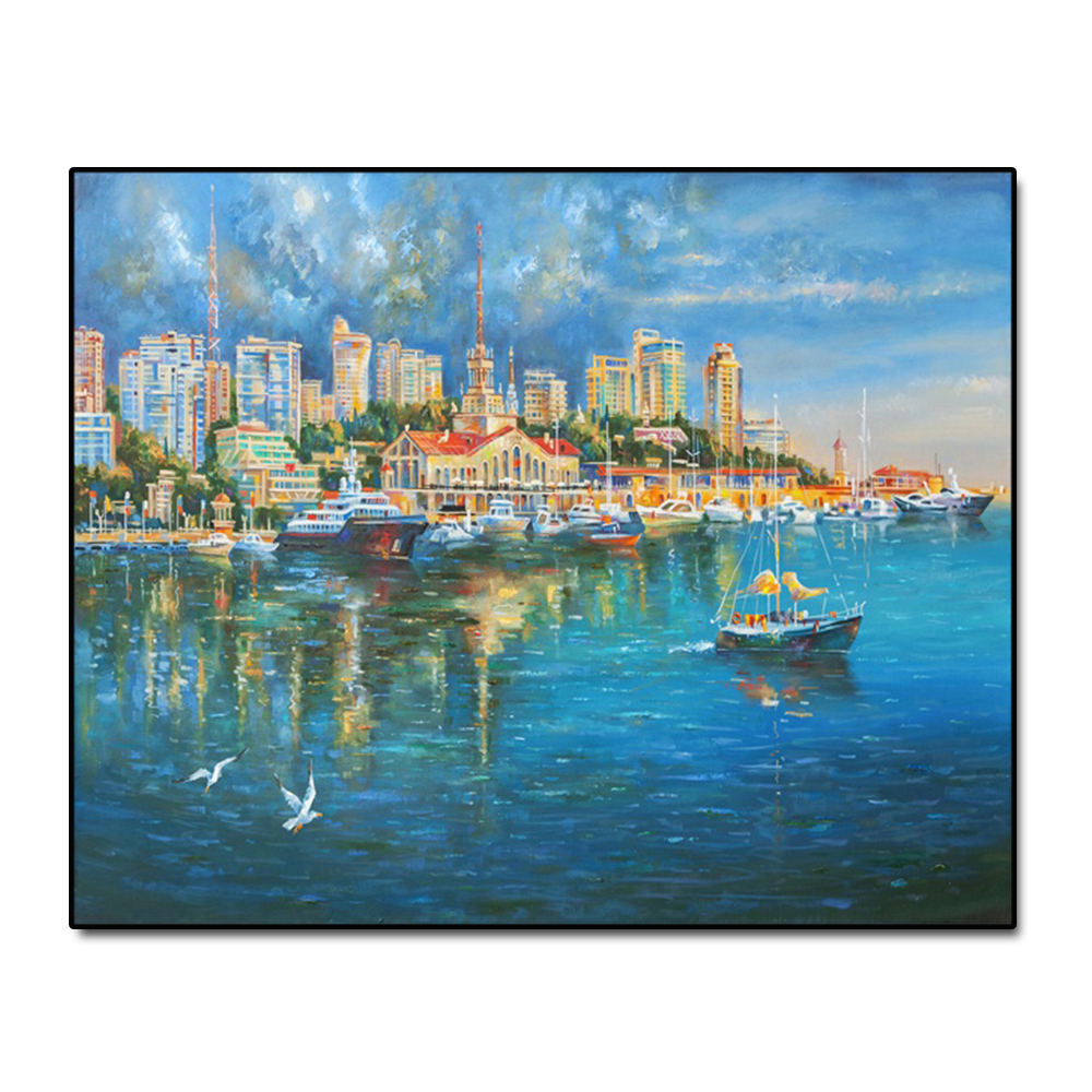 Venice Water City Famous Oil Painting Wall Art Poster Print Canvas Painting Calligraphy Decor Picture for Living Room Home Decor in Painting Calligraphy from Home Garden