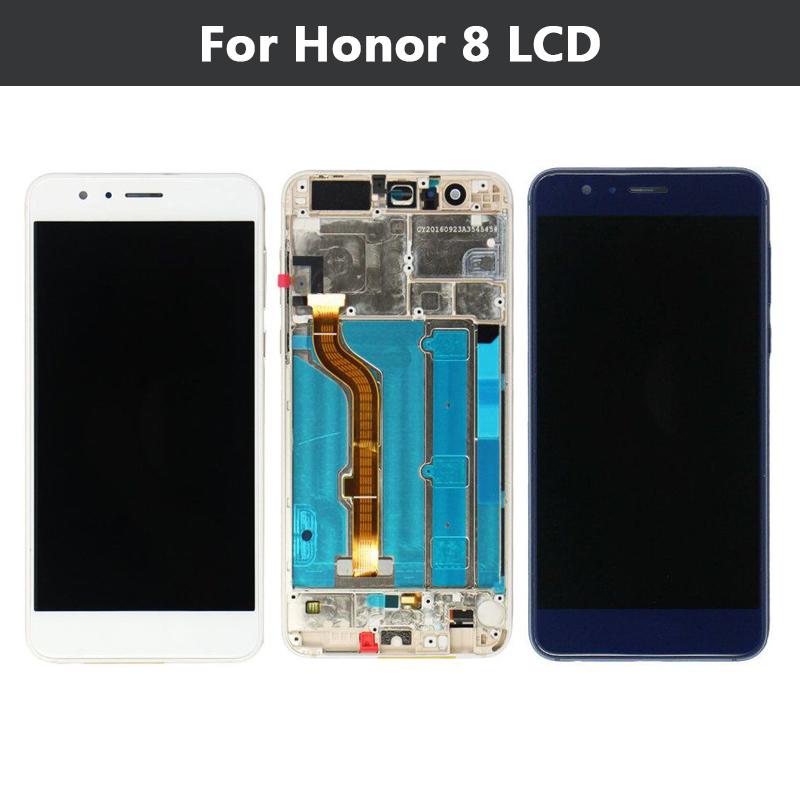 Prix pour Pour Huawei Honor 8 LCD Affichage Écran Tactile Digitizer Cadre Assemblée