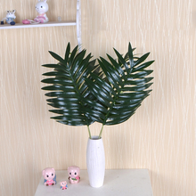 3pcs Green Artificial Palm Leaves Plant Plastic Home Garden Wedding Decoration Tropical Branching