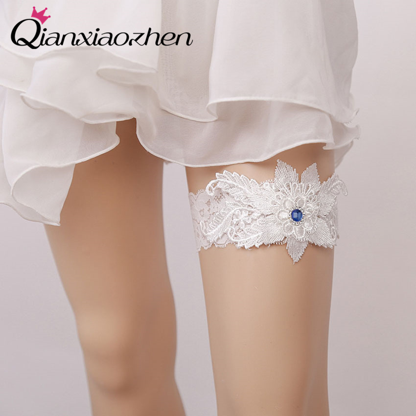 Wedding Leg Garter: Aliexpress.com : Buy Qianxiaozhen Sapphire Lace Leg