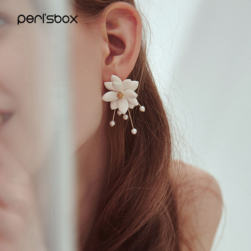 Earrings,Resin,Simple,Flower,Lady,2Pcs,WithAGiftBox