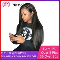 Предварительно сорвал Full Lace натуральные волосы парики для женский, черный 250 плотность бесклеевого парики с ребенком волосы прямые парик пр