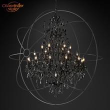 Feucault lustre suspendu en cristal, forme Orb, design rustique, éclairage dintérieur, luminaire dintérieur, luminaire dintérieur, idéal pour un hôtel, modèle pendentif LED