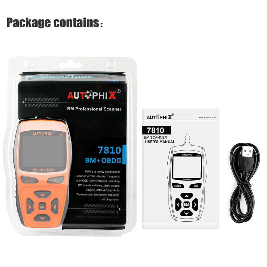 Autophix 7810 Car OBD2 for E39 Scanner Automotive Diagnostic Tool OBD 2  Engine Fault Code Reader+ABS SRS EPB Airbag Oil Reset