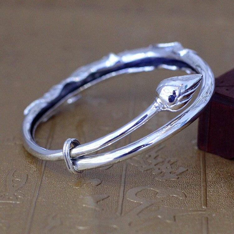 Одноцветное Серебро 925 Толстая браслет цепочка Для мужчин простой Дизайн 100% реального стерлингового серебра 925 Винтаж Прохладный Для мужчи... - 3