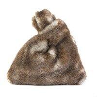 2017 Women Winter Faux Fur Handbag Fashion Bucket Bags Imitation Fur Handbag Bag Tote Bag Cute