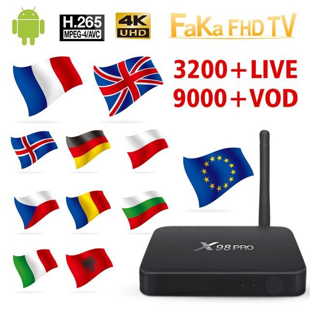 Italy France IPTV X98 Pro 1 month Free IP TV Turkey Ex Yu Arabic IPTV Subscription TV Box Germany Italian IPTV Canada France UK