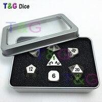 2016 Top Quality Metalic 7 Dice Set D4 D6 D8 D10 D D12 D20 Polyhedral Dice