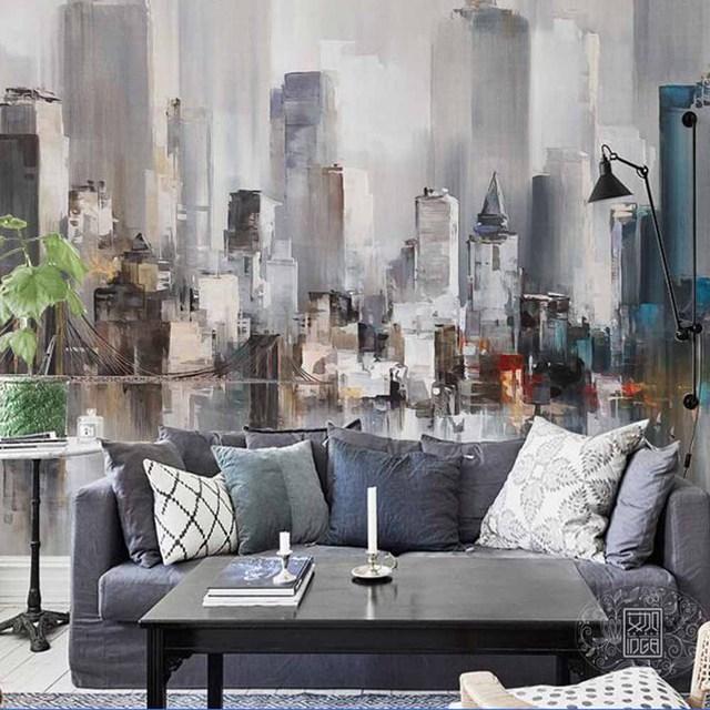 AuBergewohnlich Europäischen Stil Malerei Bau Wand Kunst Decor Foto Mural Tapeten Für  Wohnzimmer TV Hintergrund Wandmalereien Wand