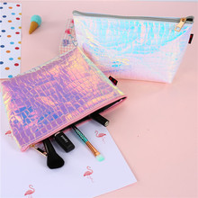 Fashion Waterproof Laser Cosmetic Bags Women Neceser Make Up Bag PVC Pouch Wash Toiletry Bag Travel Organizer Case