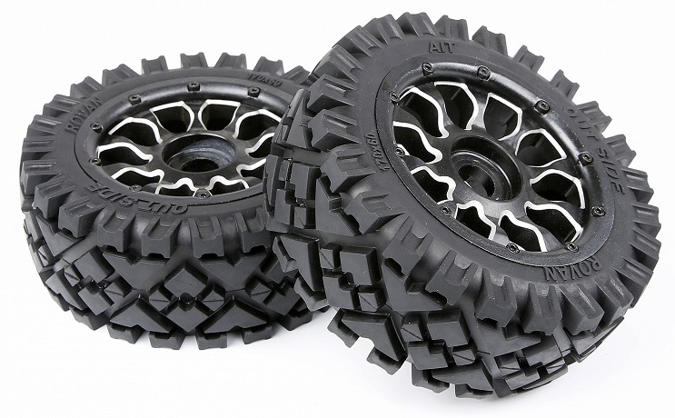 rc car alloy super star wheel with All-Terrain for 1/5 scale HPI Rovan Baja 5B SS цена