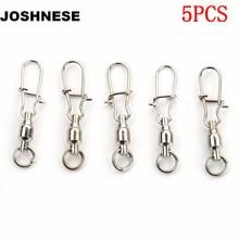 JOSHNESE 5PCS 2 3 4 6 Ball Bearing Swivels Crane Duo Lock Snap Trolling Rigging Fishing