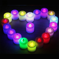 Smokeless Wedding Battery Led Candle Creative Bougies D Coratives Wax Floating Flameless Decorative Candles Bougies Home JKK192