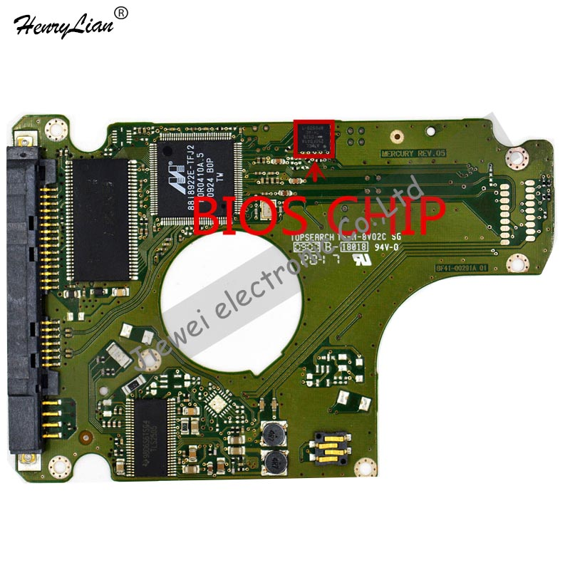 HARD DRIVER PCB BOARD LOGIC BOARD FOR  /BOARD NUMBER: BF41-00291A MERCURY REV.05 R00
