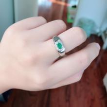 Новое модное кольцо с натуральным изумрудом, 4 мм* 5 мм, настоящее Изумрудное серебряное кольцо, Стерлинговое Серебро, изумруд, обручальное кольцо для женщин