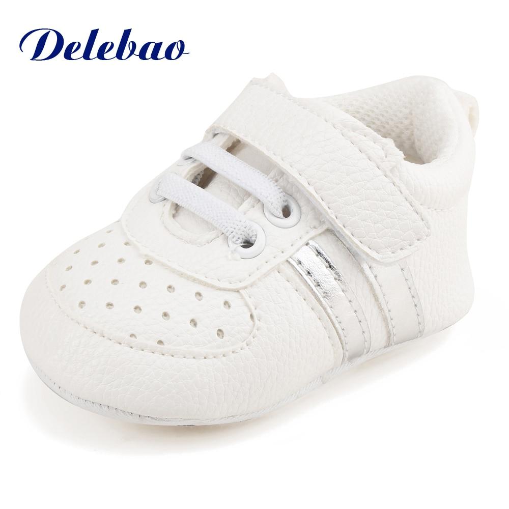 Delebao Slip on Shallow font b Baby b font Shoes Soft Downy Warm Winter Newborn font