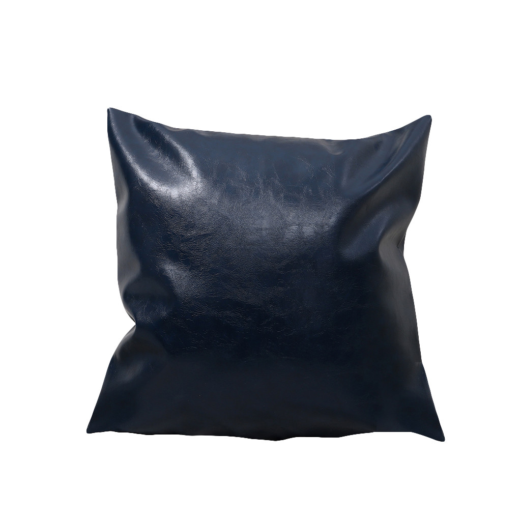 colorful faux leather pillow case waist