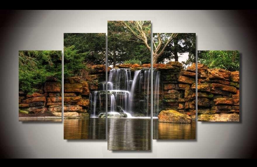 Waterfall Wall Art popular waterfall canvas wall art-buy cheap waterfall canvas wall