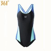 361 Women Swimwear Sports One Piece Swimsuit Female Bathing Suit Wire Free Swim Wear Pool Swimming Girls Monokini