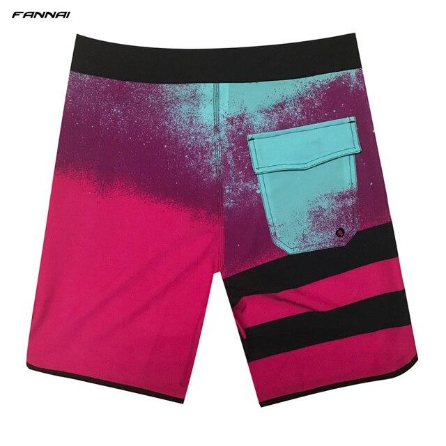 Men's Board Shorts Surf Swimwear Beach High Elastic Swimming Trunks Beach Shorts Beachwear Sports Shorts Male Swimsuit Trunks 1
