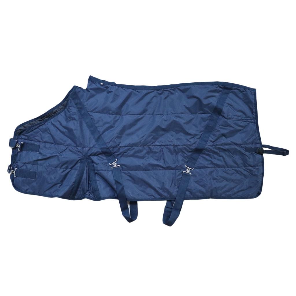 1200D водонепроницаемое одеяло с вывернутой лошадью, зимнее теплое дышащее хлопковое одеяло, коврик для верховой езды - Цвет: L